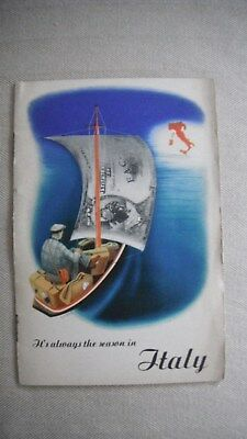 Vintage Travel Brochure Italy 1939 Rome Turin Malan etc