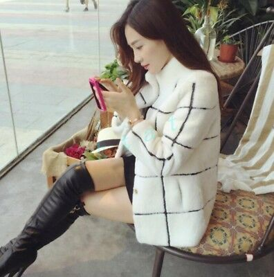 2019 Winter Womens Warm Parkas Short Korean Jacket Thicken Rabbit Fur Coat Hot