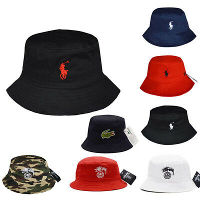 0ae6c1d27 MENS WOMEN POLO Bucket Hat Boonie Hunting Fishing Outdoor Men Cap Washed  Cotton