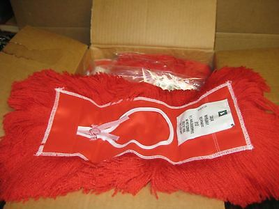 """12 New 5"""" x 12"""" Red Dry Dust Mop Heads USA Made School Surplus"""