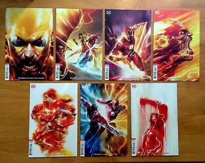 Flash 46,47,48,49,50,51,52 Cover B Variants Mattina & Dell Otto Covers DC  NM