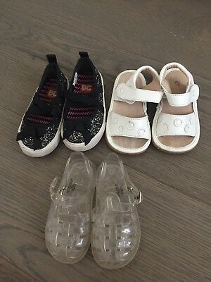 b124c7b0149e Lot of 3 Pairs Baby Toddler Girl Shoes Jelly Sandals BC Footwear GAP SIZE 5