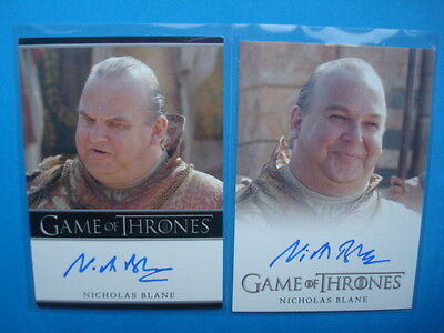 LOT **GAME Of THRONES**GoT Season 2/3 Auto/AutoGraph Cards BLANE as SPICE KING