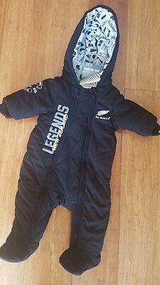 All Blacks Winter Baby Puffy Coverall clothes BNWT size 00 - 3-6  months