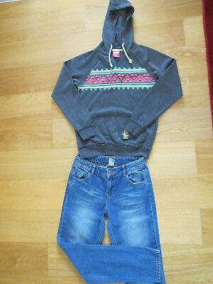girls jeans and hoodie s.12