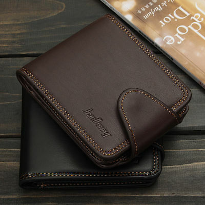 Men Leather Short Wallet Credit Card Holder Purse Bifold Money Clip Pockets Bag