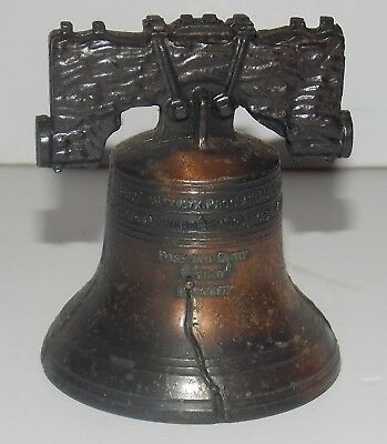 "Vintage LIBERTY BELL 2 3/4"" MINI SOUVENIR REPLICA Philadelphia Brotherly Love"