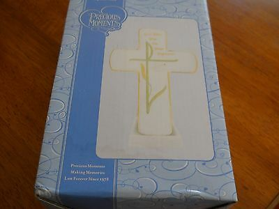 Precious Moments Baptism Cross, Can be Personalized. Stand or Hang-NEW.