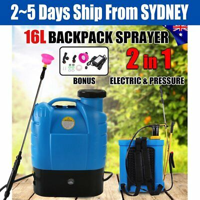 16L Electric Weed Sprayer 12V Rechargeable Knapsack Pressure Garden Pump EQ