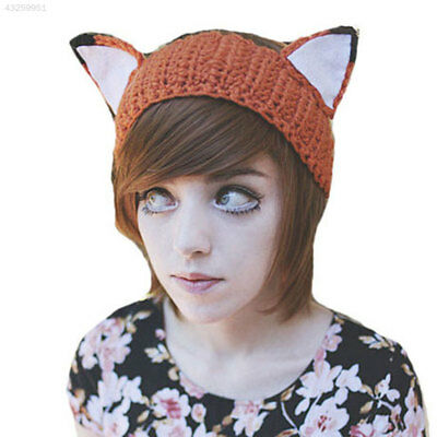 Lovely Handmade Crochet Unisex Fox Hat Animal Knit Beanie Cap Fashion New