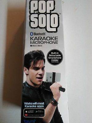 Tzumi Pop Solo Bluetooth Karaoke Microphone Black brand New in Box