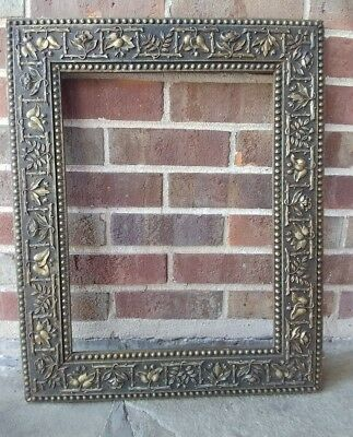 Victorian AESTHETIC Flowers Leaves Vines Compo Picture Frame 21.5 x 17.5 c.1880s