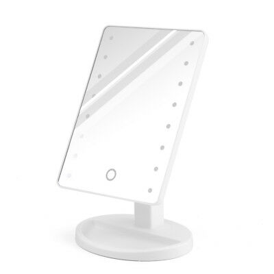 16-LED Makeup Mirror Adjustable Touch Screen Tabletop Stand LED Light Up Mirror