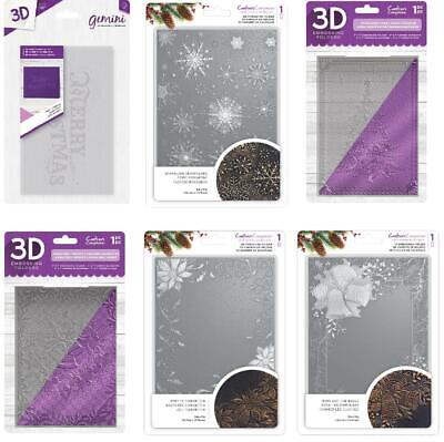 Crafter's Companion 3D Embossing Folders New Christmas Theme 5 x 7 inch emboss