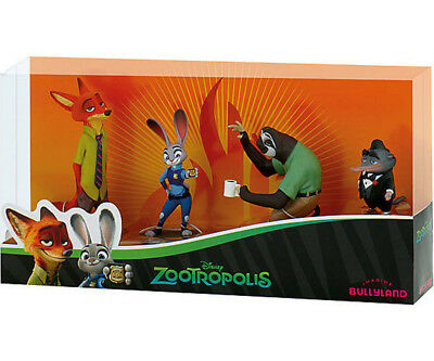 13162  Bullyland Figur  Zoomania Geschenk-Set, Nick Wild,Judy Hopps,Mr Big Flash