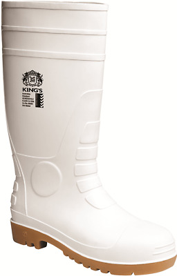 Oliver KINGS MEN'S SAFETY GUMBOOTS Size-AU 7, Wide Profile Steel Toe Cap WHITE