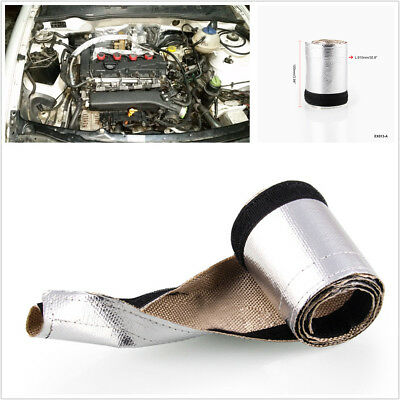 Metallic Heat Shield Sleeve Insulated Wire Hose Cover Wrap For Car Motorcycle