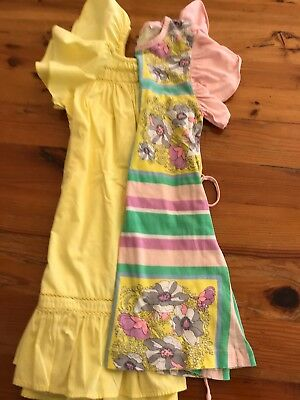 Girls Summer Dresses X 2 Both Country Road Yellow & Multicoloured - Size 5