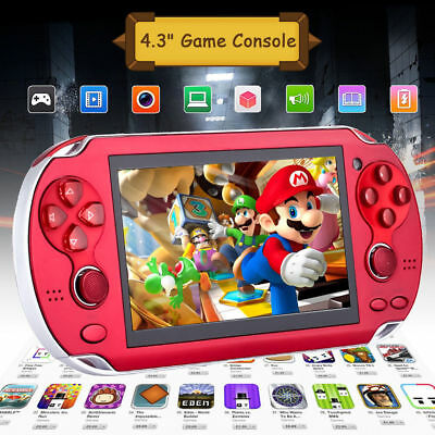 4.3'' Portable 8GB Handheld PSP Game Console Player Built-in 2000 Games+ Charger