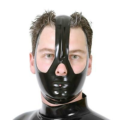 Latex Mask Unisex Rubber Hood with Covering Half of Face with Open Eyes and Nose