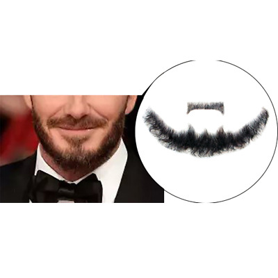 Fake beard Man mustache word simulation of 100% human hair makeup body care