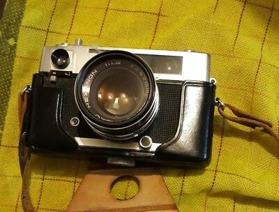 Konica Auto S Range Finder Hexanon 47mm Lense  in case with strap.