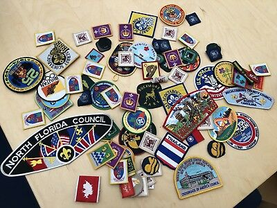 Job Lot of 88 Old Scout Badges - Various Ages & Countries