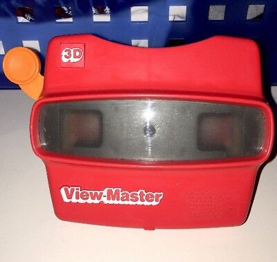 Vintage Red Viewmaster 3D View-Master Viewer Toy USA Made, Classic!!