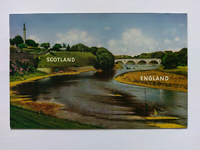 Coldstream Scottish Borders colour Postcard c1960s The Tweed