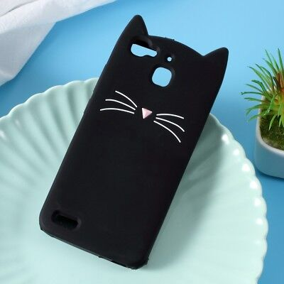 3D Moustache Cat Silicone Cover for Huawei Enjoy 5s / GR3