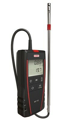 Kimo HOTWIRE THERMO-ANEMOMETER VT110S Debit Calculation, Hold Function