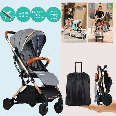 Compact Baby Stroller PushchairLightweight Pram Travel Carry-on Plane Easy Fold