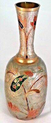 Full Brass Cloisonne Vase with beautiful art relief as shown suit any collector
