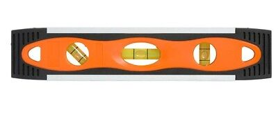 Bigdog TORPEDO LEVEL 230mm Top Read, Acrylic High-Visibility Vials, ABS Frame