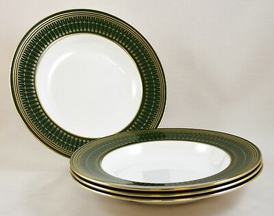 Spode China Royal Windsor Y8078 Large Rimmed SoupPlates/bowls X 4 1St Perfect!