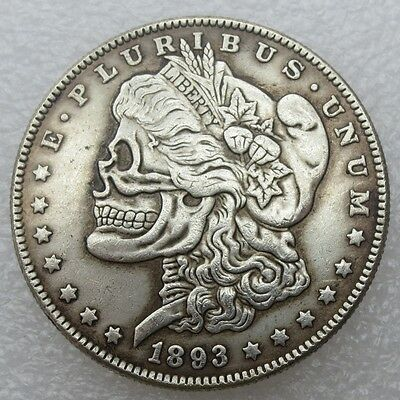 1893 Two face Hobo One Morgan Dollar US Sonder Münze Silber Special Edition USA