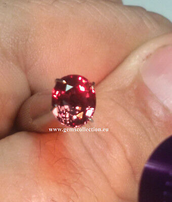 Aaa  Natural Color Change Garnet Ct 1.94 Vvs Cherry To Raspberry Color Oval Cut