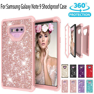 Samsung Galaxy Case Note 9 Luxury Glitter Sparkle Bling Heavy Duty Hybrid Armor