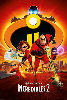 Disney Pixar The Incredibles 2 One Sheet Maxi Poster 91.5 X 61Cm 100% Official