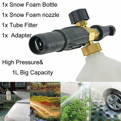 1L Snow Foam Spray Jet Bottle for Kärcher FJ6 K2 K3 K4 K5 K6 K7 + Quick Adapter