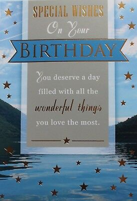 Special Wishes On Your Birthday Card Envelope Suitable For Male Any Age