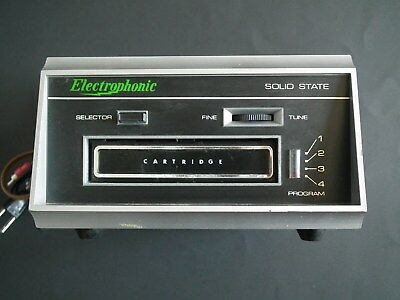 Electrophonic T058 8-Track Tape Player *tested Has No Sound For Repair Or Parts*