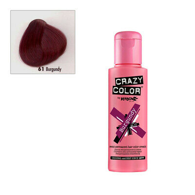 Coloration semi permanente Crazy Color Burgundy 100ml Renbow