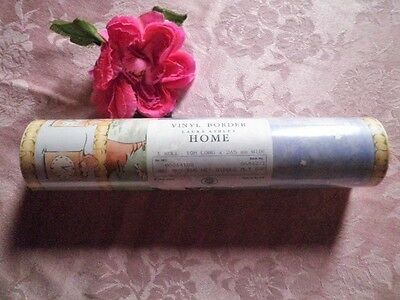 Vintage Vinyl Wallpaper Border Laura Ashley Hey Diddle Diddle Cat & Fiddle 10M