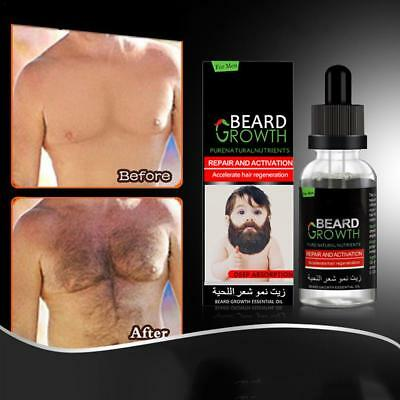 40ml Moustache Chest Huile De Croissance Des Cheveux Essence Liquid Hair Enhance