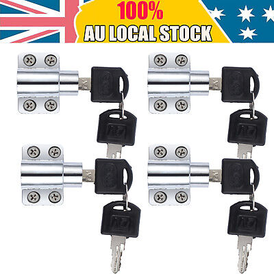 4pcs Aluminium Sliding Window Restrictor Lock Child Proof Safety AU STOCK