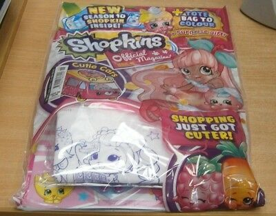 Shopkins magazine comic Issue #46 + Season 10, Cutie Cars & colour-in tote bag