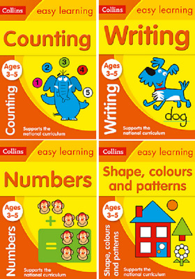 Kids Educational Book Children Preschool Learning Shapes Counting Skills Numbers