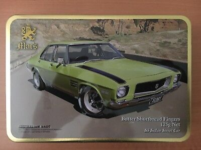 2017 MAC'S CLASSIC CARS SHORTBREAD BISCUIT TIN Holden Monaro SS Brand New Sealed
