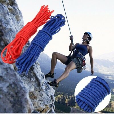 10M Cordes d' Escalade Sauvetage Descente Survival Camping Nylon Tressage 6mm